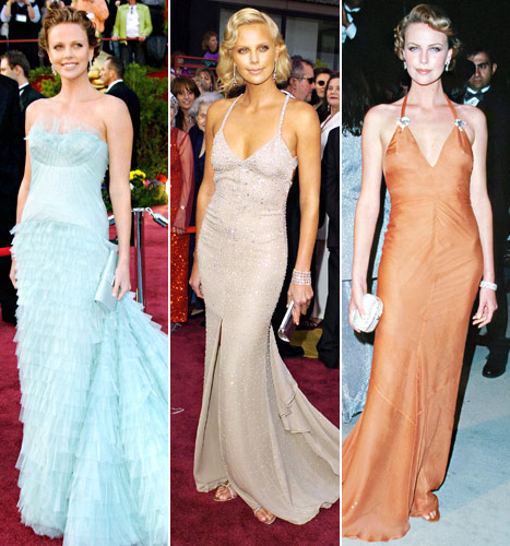 Charlize theron oscar dress